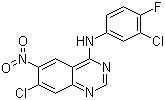 7-Chloro-N-(3-chloro-4-fluorophenyl)-6-nitroquinazolin-4-amine CAS 179552-73-9