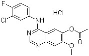 4-(3-Chloro-4-fluorophenylamino)-7-methoxyquinazolin-6-yl Acetate HCl CAS 184475-70-5