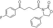 (S)-3-(4-(2-(4-fluorophenyl)-1,3-dioxolan-2-yl)butanoyl)-4-phenyloxazolidin-2-one CAS 189028-93-1