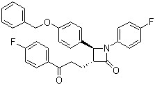 (3R,4S)-4-(4-(benzyloxy)phenyl)-1-(4-fluorophenyl)-3-(3-(4-fluorophenyl)-3-oxopropyl)azetidin-2-one CAS 190595-65-4