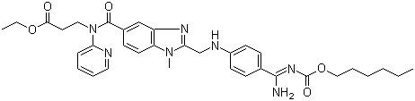 N-[2-[4-[N-(Hexyloxycarbonyl)amidino] phenylaminomethyl]-1-methyl-1H-benzimidazol-5-ylcarbonyl]-N-(2-pyridyl)-beta-alanine ethyl ester CAS 211915-06-9