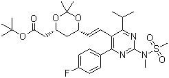 tert-Butyl 6-[(1E)-2-[4-(4-fluorophenyl)-6-(1-methylethyl)-2-[methyl(methylsulfonyl)amino]-5-pyrimidinyl]ethenyl]-2,2-dimethyl-1,3-dioxane-4-acetate CAS 289042-12-2