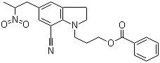 1-[3-(benzoyloxy)propyl]-2,3-dihydro-5-(2-nitropropyl)- 1H-Indole-7-carbonitrile CAS 350797-56-7