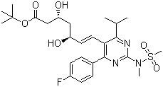 tert-Butyl(+)-(3R,5S)-7-[4-(4-Fluorophenyl)-6-Isopropyl-2-(N-Methyl-N-Methanesulfonylamino)pyrimidin-5-yl]-3,5-Dihydroxy-6(E)-Heptenoate CAS 355806-00-7