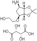 2-((3aR,4S,6R,6aS)-6-amino-2,2-dimethyltetrahydro-3aH-cyclopenta[d][1,3]dioxol-4-yloxy)ethanol L-tat CAS 376608-65-0