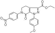 4,5,6,7-Tetrahydro-1-(4-methoxyphenyl)-6-(4-nitrophenyl)-7-oxo-1H-pyrazolo[3,4-c]pyridine-3-carboxylic acid ethyl ester CAS 536759-91-8