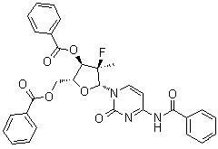 Cytidine, N-benzoyl-2′-deoxy-2′-fluoro-2′-methyl-, 3′,5′-dibenzoate,(2'R)- CAS 817204-32-3