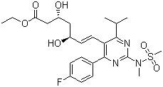 Ethyl(+)-(3R,5S)-7-[4-(4-Fluorophenyl)-6-Isopropyl-2-(N-Methyl-N-Methanesulfonylamino)pyrimidin-5-yl]-3,5-Dihydroxy-6(E)-Heptenoate CAS 851443-04-4