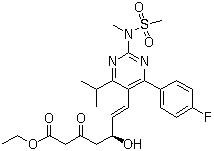 Ethyl(+)-(5S)-7-[4-(4-Fluorophenyl)-6-isopropyl-2-(N-methyl-N-methanesulfonylamino) pyrimidin-5-yl]-5-hydroxy-3-oxo-6(E)-heptenoate CAS 901765-36-4