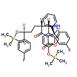 3-[(2R,5S)-5-(4-Fluorophenyl)-2-[(S)-[(4-fluorophenyl(amino)]][4-[trimethylsilyl]-oxy]phenyl]methyl]-1-oxo-5-[(trimethylsily)-oxy]pentyl]-4-phenyl-(4S)-2-oxazolidinone CAS 272778-12-8