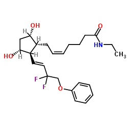 DECHLORO DIHYDROXYDIFLUORO ETHYLCLOPROSTENOLAMIDE CAS 1185851-52-8