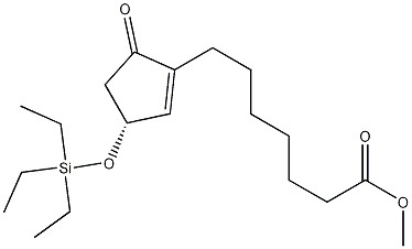 (3R)-5-Oxo-3-[(triethylsilyl)oxy]-1-cyclopentene-1-heptanoic Acid Methyl Ester CAS 118456-54-5