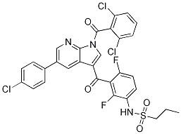 1-PropanesulfonaMide, N-[3-[[5-(4-chlorophenyl)-1-(2,6-dichlorobenzoyl)-1H-pyrrolo[2,3-b]pyridin-3-yl]carbonyl]-2,4-difluorophenyl]- CAS 1262985-23-8