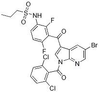 1-PropanesulfonaMide, N-[3-[[5-broMo-1-(2,6-dichlorobenzoyl)-1H-pyrrolo[2,3-b]pyridin-3-yl]carbonyl]-2,4-difluorophenyl]- CAS 1262985-24-9