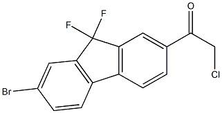 1-(7-broMo-9,9-difluoro-9H-fluoren-2-yl)-2-chloro-Ethanone CAS 1378387-81-5