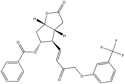 (3aR,4R,5R,6aS)-5-(Benzoyloxy)hexahydro-4-[(1E)-3-oxo-4-[3-(trifluoromethyl)phenoxy]-1-buten-1-yl]-2H-cyclopenta[b]furan-2-one CAS 208111-98-2