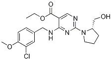 5-PyriMidinecarboxylic acid,4-[[(3-chloro-4-Methoxyphenyl)Methyl]aMino]-2-[(2S)-2-(hydroxyMethyl)-1-pyrrolidinyl]-, ethyl ester CAS 330785-83-6