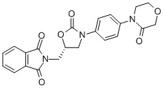 1H-ISOINDOLE-1,3(2H)-DIONE, 2-[[(5S)-2-OXO-3-[4-(3-OXO-4-MORPHOLINYL)PHENYL]-5-OXAZOLIDINYL]METHYL]- CAS 446292-08-6