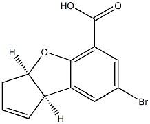 3H-Cyclopenta[b]benzofuran-5-carboxylic acid, 7-broMo-3a,8b-dihydro-, cis-(-)- CAS 88277-50-3