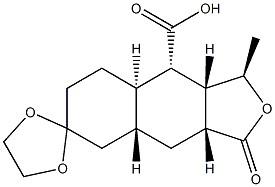 (1R,3aR,4aR,8aR,9S,9aR)-1-methyl-3-oxodecahydro-3H-spiro[naphtho[2,3-c]furan-6,2′-[1,3]dioxolane]-9-carboxylic acid CAS 900161-13-9