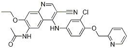 N-(4-((3-Chloro-4-(pyridin-2-ylMethoxy)phenyl)aMino)-3-cyano-7-ethoxyquinolin-6-yl)acetaMide CAS 915941-95-6