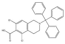 5,7-dichloro-2-trityl-1,2,3,4-tetrahydroisoquinoline-6-carboxylicacid CAS 1194550-56-5