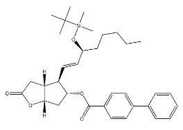 [1,1′-Biphenyl]-4-carboxylicacid,4-[3-[[(1,1-diMethylethyl)diMethylsilyl]oxy]-1-octenyl]hexahydro-2-oxo-2H-cyclopenta[b]furan-5-ylester,[3aR-[3aa,4a(1E,3S*),5b,6aa]]- CAS 137624-47-6