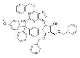 (2R,3S,5S)-3-(Benzyloxy)-5-[2-[[(4-methoxyphenyl)diphenylmethyl]amino]-6-(phenylmethoxy)-9H-purin-9-yl]-2-(benzyloxymethyl)cyclopentanol CAS 142217-78-5