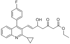Ethyl(E)-7-[4-(4′-fluorophenyl)-2-(cyclopropyl)-3-quinolinyl]-5-hydroxy-3-oxo-6-heptenoate CAS 148901-69-3