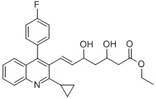 Ethyl(E)-3,5-dihydroxy-7-[2-cyclopropyl-4-(4-fluorophenyl)-3-quinolinyl]-hept-6-enoate CAS 172336-32-2