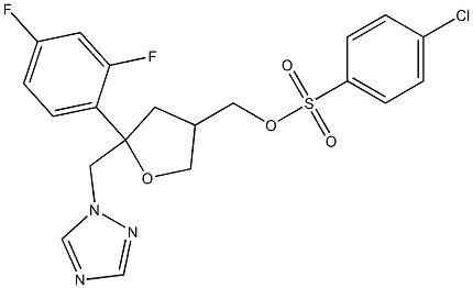 4-Chloro-benzenesulfonicacid5-(2,4-difluoro-phenyl)-5-[1,2,4]triazol-1-ylMethyl-tetrahydro-furan-3-ylMethylester CAS 175712-02-4