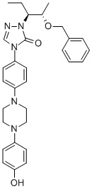 2-[(1S,2S)-1-ethyl-2-bezyloxypropyl]-2,4-dihydro-4-[4-[4-(4-hydroxyphenyl)-1-piperazinyl]phenyl]-3H-1,2,4-Triazol-3-one, CAS 184177-83-1