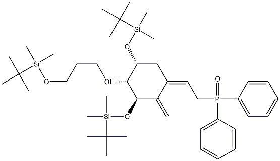 Phosphineoxide,[(2Z)-2-[(3R,4R,5R)-3,5-bis[[(1,1-diMethylethyl)diMethylsilyl]oxy]-4-[3-[[(1,1-diMethylethyl)diMethylsilyl]oxy]propoxy]-2-Methylenecyclohexylidene]ethyl]diphenyl- CAS 200636-54-0