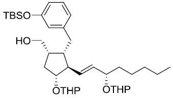 CyclopentaneMethanol,2-[[3-[[(1,1-diMethylethyl)diMethylsilyl]oxy]phenyl]Methyl]-4-[(tetrahydro-2H-pyran-2-yl)oxy]-3-[3-[(tetrahydro-2H-pyran-2-yl)oxy]-1-octenyl]-,[1S-[1a,2a,3b(1E,3R*),4a]]- CAS 81846-26-6