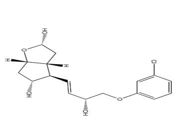 2H-Cyclopenta[b]furan-2,5-diol, 4-[4-(3-chlorophenoxy)-3-hydroxy-1-butenyl]hexahydro-, [2S-[2Alpha,3a¦Â,4¦Â(1E,3S*),5Alpha,6a¦Â]]- (9CI) CAS 99827-98-2