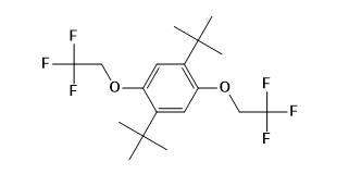 1,4-Bis(2-methyl-2-propanyl)-2,5-bis(2,2,2-trifluorethoxy)benzol CAS 1147737-68-5