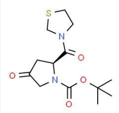 (2S)-4-Oxo-2-(3-thiazolidinylcarbonyl)-1-pyrrolidinecarboxylic acid tert-butyl ester CAS 401564-36-1